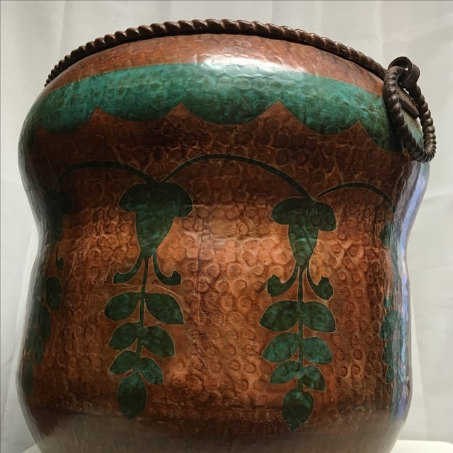 Oxidized Copper Planter For Sale - Image 5 of 6