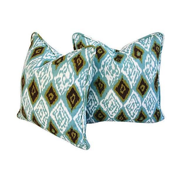 Custom Eaton Square Firebird Linen Pillows - a Pair - Image 4 of 7