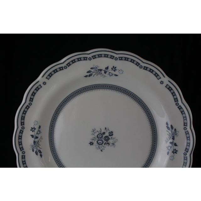 "Royal Doulton of England gray-blue porcelain floral Langdale pattern consisting of the following: 13 cups 4x3.5x3"" 13..."