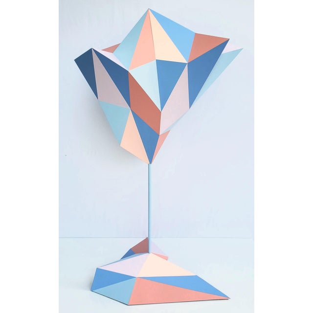 """Large, beautiful sculpture made of steel and wood and painted. Suitable for large hallways or office space. Dimensions 39""""..."""