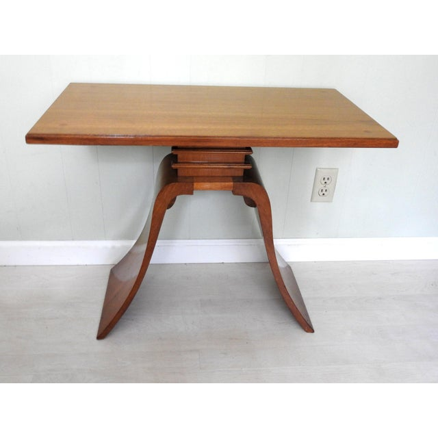 Art Deco Paul Frankl Bell Side Table For Sale - Image 12 of 12