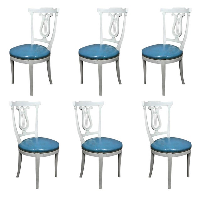 Wood Neoclassic Style Painted Dining Chairs - Set of 6 For Sale - Image 7 of 7