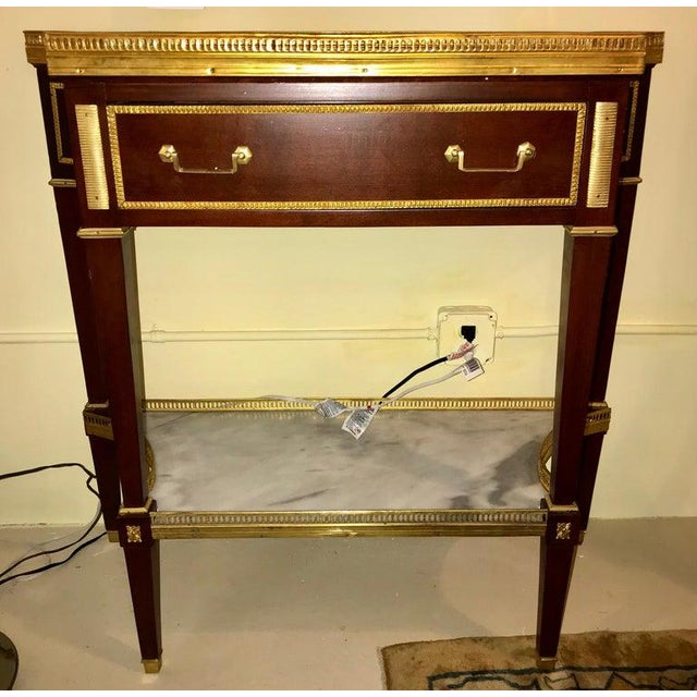 Neoclassical Russian Neoclassical Style Console/Server or Commode With Marble Top For Sale - Image 3 of 13