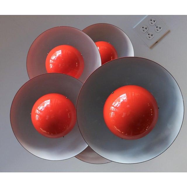 Red 1970's Big Flower Pot Hanging Light by Verner Panton For Sale - Image 8 of 10