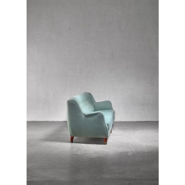 Mid-Century Modern Grete Jalk Four Seater Sofa for Johannes Hansen, Denmark, 1970s For Sale - Image 3 of 5