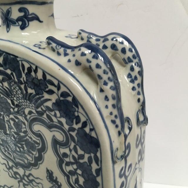 Blue Chinese Dragon Flat-Front Vase - Image 4 of 11
