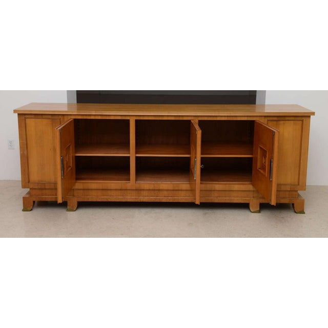 Contemporary Fine French Modern Fruitwood Sideboard or Buffet by Jules Leleu For Sale - Image 3 of 9