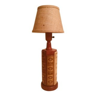 1970s Traditional Book Spine Tabletop Lamp For Sale