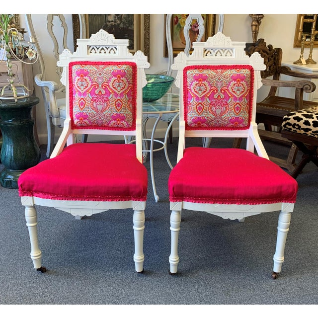 Shabby Chic 18th Century Antique Eastlake Chairs - A Pair For Sale - Image 3 of 13