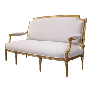 Gilded French Settee For Sale
