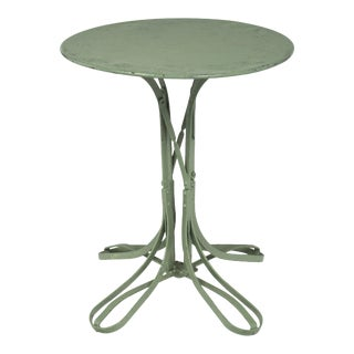 French Vintage Green Bistro Table For Sale