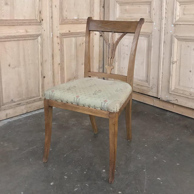 Brown Set of Four 19th Century Swedish Directoire Style Chairs For Sale - Image 8 of 13
