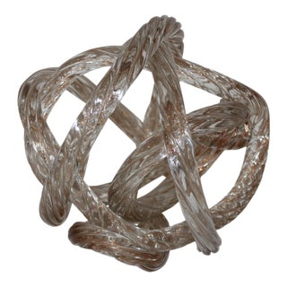Late 20th Century Art Glass Rope Sculpture For Sale
