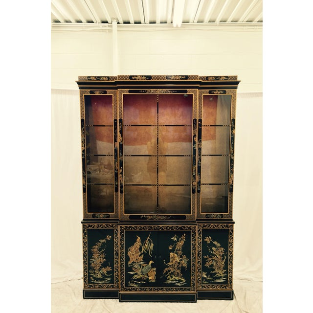 Vintage 1980s Drexel Heritage Asian Chinoiserie China Cabinet - Image 11 of 11