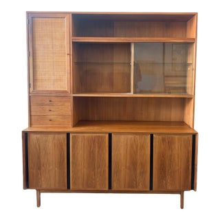 Esprit Hutch / China Cabinet by Merton Gershun for Dillngham For Sale