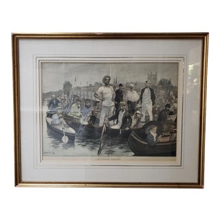 At Henley Regatta : Engraving For Sale