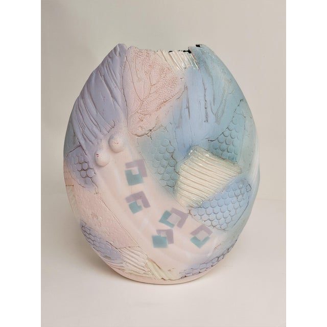 1990s Markiewilz Textured Ceramic Vase For Sale - Image 5 of 13