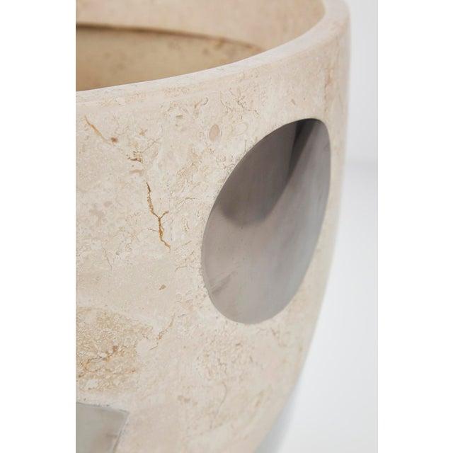 """Fiberglass 1990s Vintage Medium Postmodern Tessellated Stone """"Et Cetera"""" Planter For Sale - Image 7 of 10"""