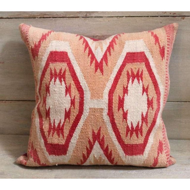 Native American Early Wide Ruins Navajo Woven Pillow For Sale - Image 3 of 4
