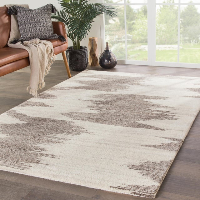 "2010s Jaipur Living Ozark Hand-Knotted Geometric Ivory & Light Brown Area Rug - 7'9""x9'9"" For Sale - Image 5 of 6"