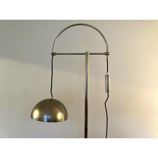 Modern Arteriors Home Jillian Vintage Style Silver Floor Lamp For Sale - Image 3 of 12
