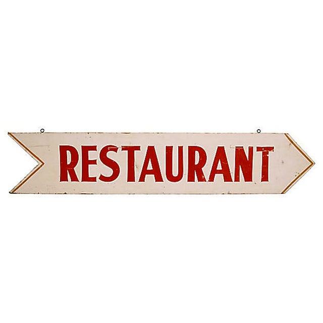 Vintage Restaurant Sign - Image 1 of 2