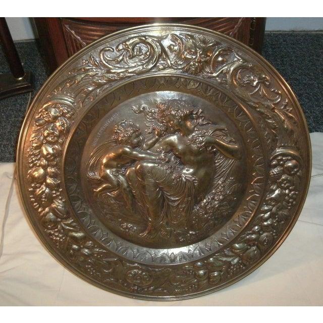 Copper Hand Embossed Greek Mythology Wall Art Discs - Set of 3 For Sale - Image 8 of 13