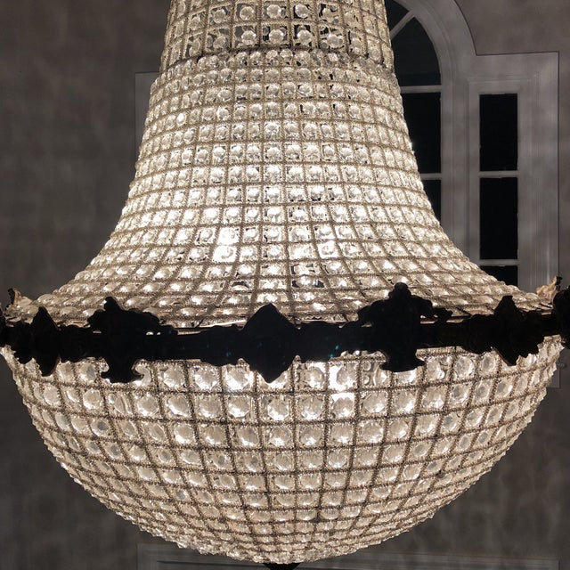 1970s Oversized Cherub Acanthus Empire Chandelier For Sale - Image 5 of 11