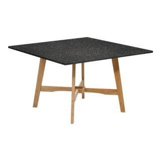 Wooden Outdoor Dining Table, Natural and Charcoal For Sale