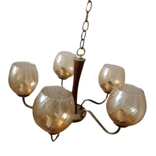 1970s Mid Century Modern Hanging Lamp Chandelier For Sale