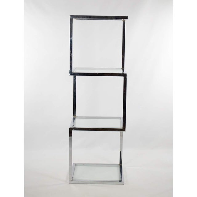 1960s Mid Century Modern Stacked Chrome Cubes Etagere Chairish