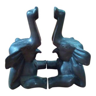 Bronze Dumbo/Elephant Bookends - A Pair For Sale