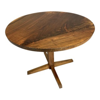 George Nakashima Circular Cocktail Pedestal Table For Sale