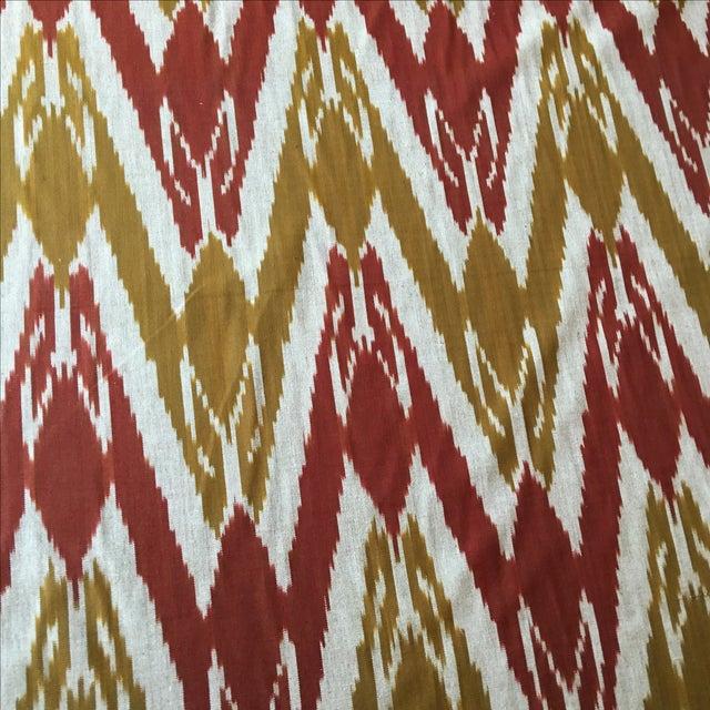 Handwoven Uzbek Ikat Fabric - 3 Yards - Image 9 of 10