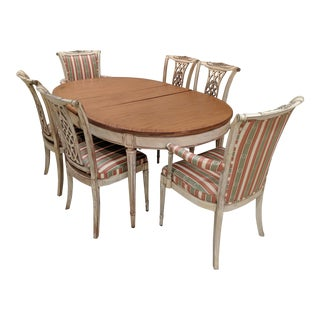1950s Vintage French Provincial Country Shabby Chic Dining Set For Sale