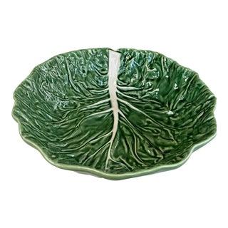 Bordallo Pinheiro Green Cabbage Bowl For Sale