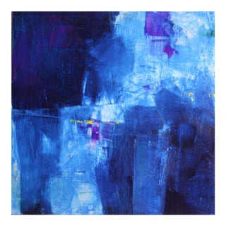 Original Blue & Violet Abstract Painting
