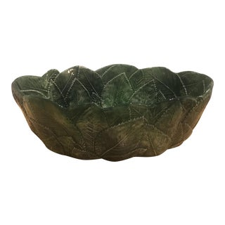 Vintage Majolica Italian Leaf Ware Bowl For Sale