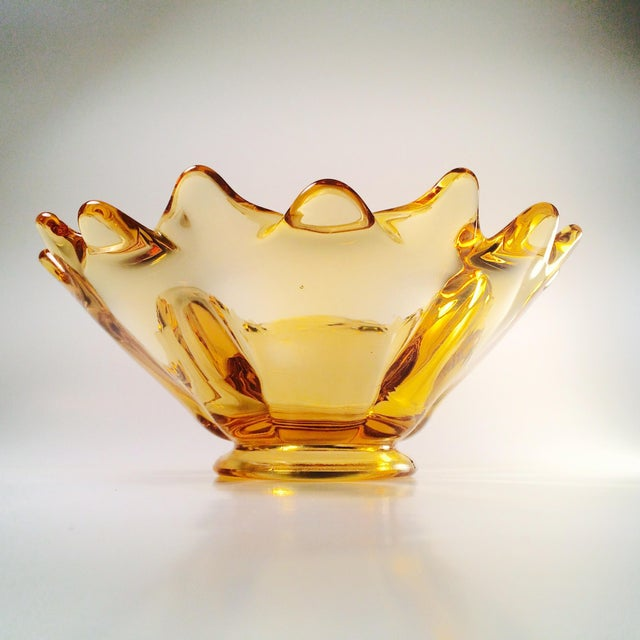 Vintage Amber Glass Bowl - Image 2 of 5