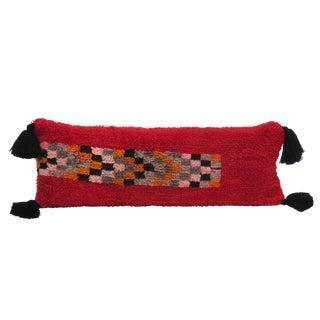 Vintage Berber Bolster Wool Pillow