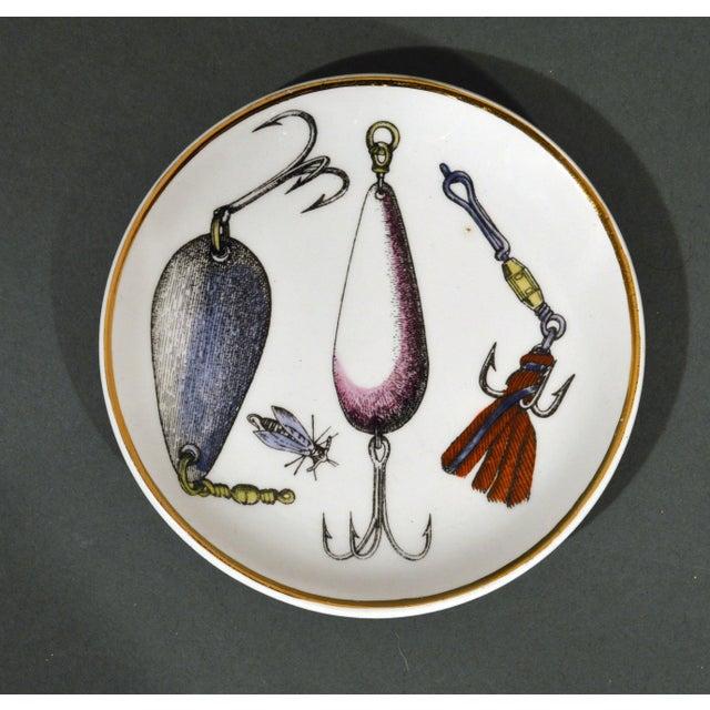 Piero Fornasetti La Pesca Fishing Lures Coaster Set With Original Box For Sale In Philadelphia - Image 6 of 13
