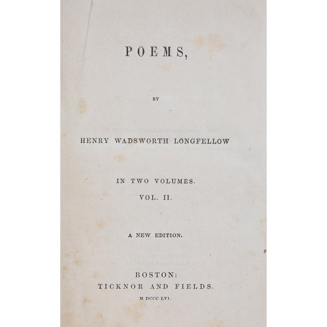 Poems Vol. II by Henry Wadsworth Longfellow. Boston: Ticknor and Fields, 1856. 467 pages. Hardcover.