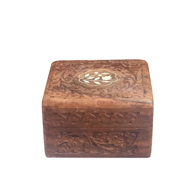 Mother of Pearl Hand-Carved Decorative Box - Image 1 of 5