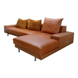 Casa Tonino Lamborghini Pilot Collection Sofa in Leather, Ostrich & Suede For Sale
