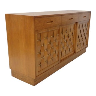 Edward Wormley for Dunbar Woven Front Credenza For Sale