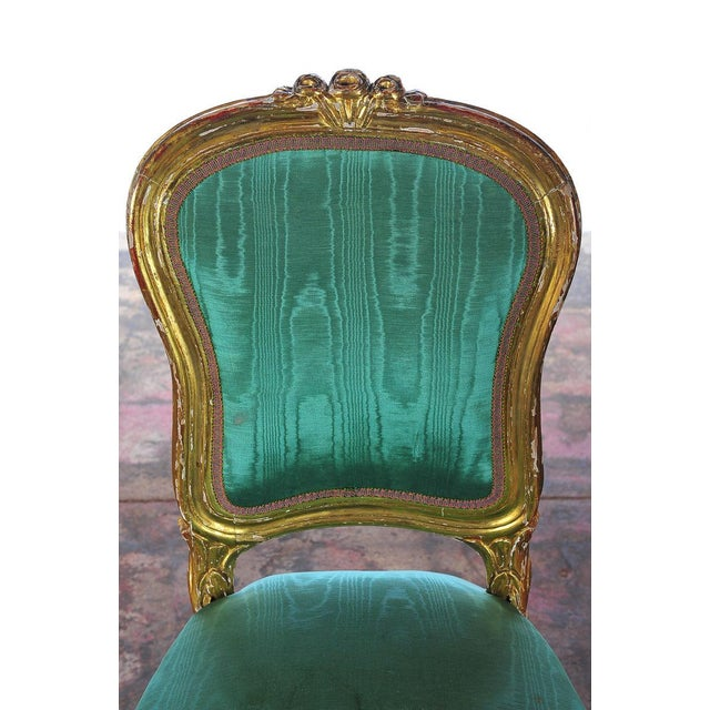 Louis XVI Style Giltwood Chairs - Set of 4 - Image 5 of 11