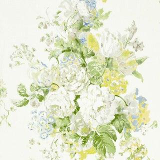 Scalamandre Sybilla Bouquet Fabric in Hillside Sample For Sale