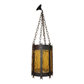 French 1920s Iron Lantern For Sale