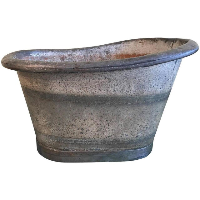 Gray Early 19th Century French Tole' Foot Bath For Sale - Image 8 of 8