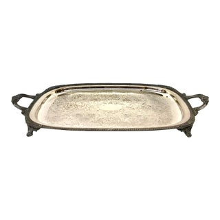 1940s Art Deco Fb Rogerst Silver Plated Serving Tray For Sale